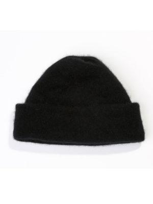 Hat in Merino Possum - Black