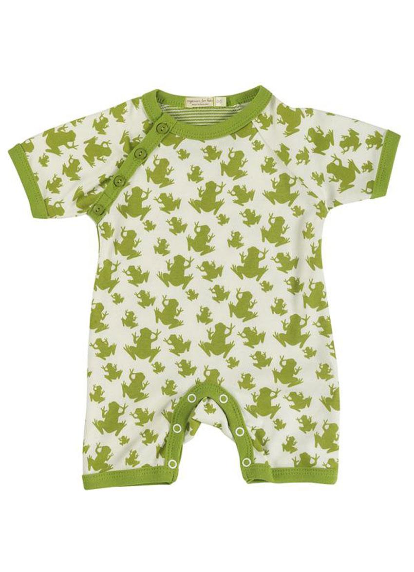 Bodystocking korte ærmer – Med små grønne frøer