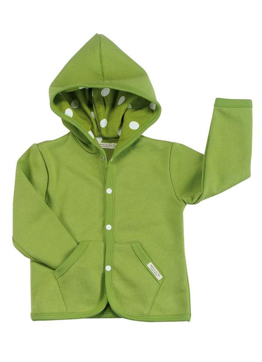 Babyjakke med hette – Grønn