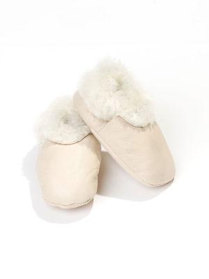 Baby booties lambskin – Creme
