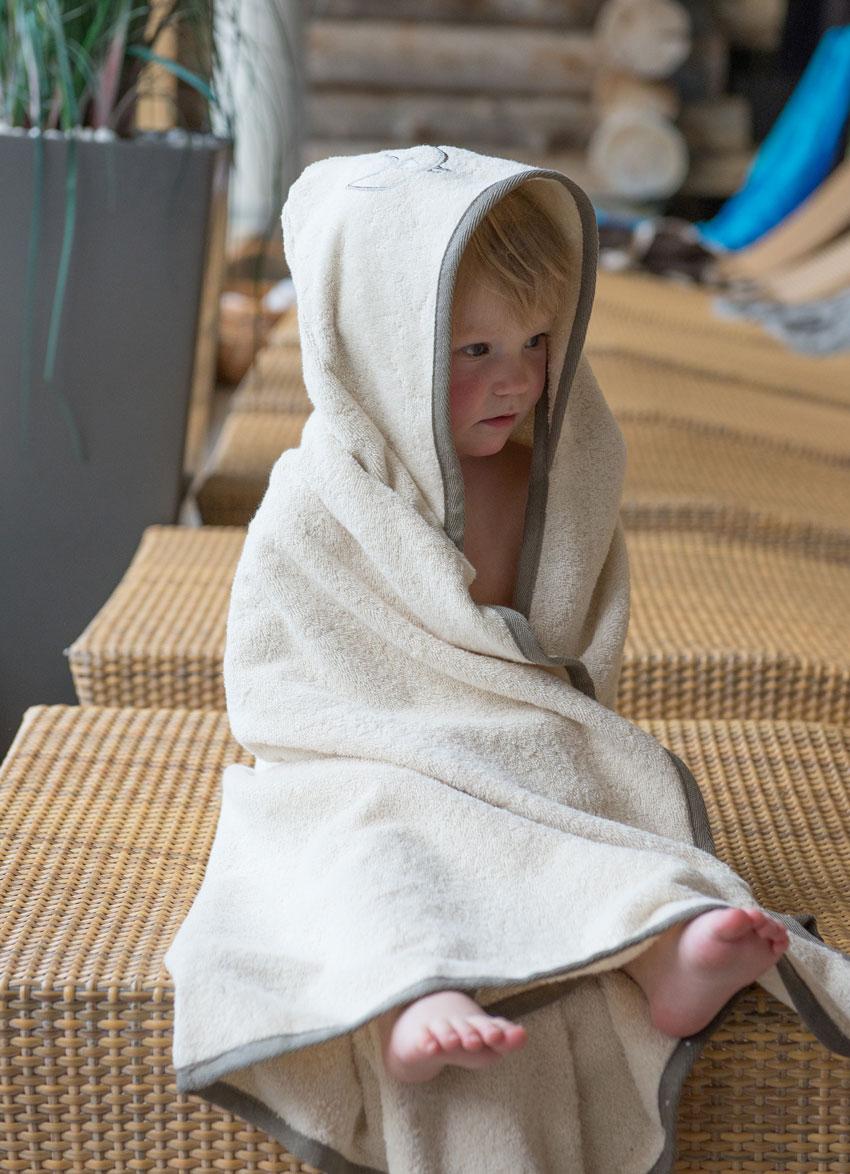 Badehåndklæde i 100% økologisk bomuld
