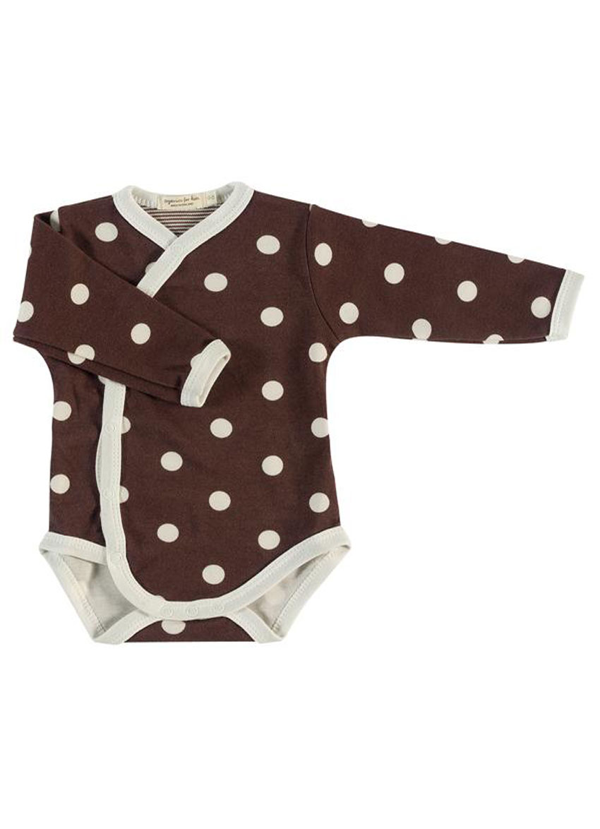 Bodystocking long sleeve – Brown with dots