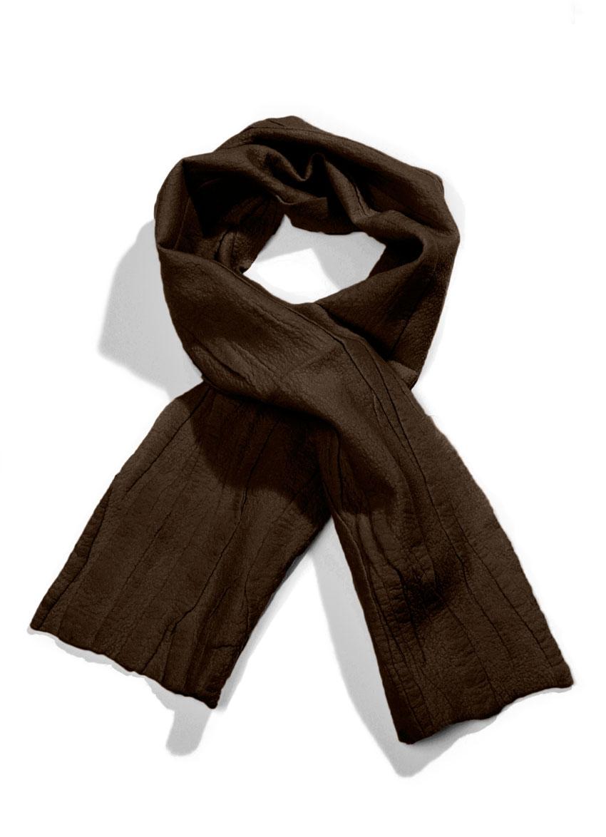 Escorial tørklæde – Brun. Det fineste og blødeste uld.