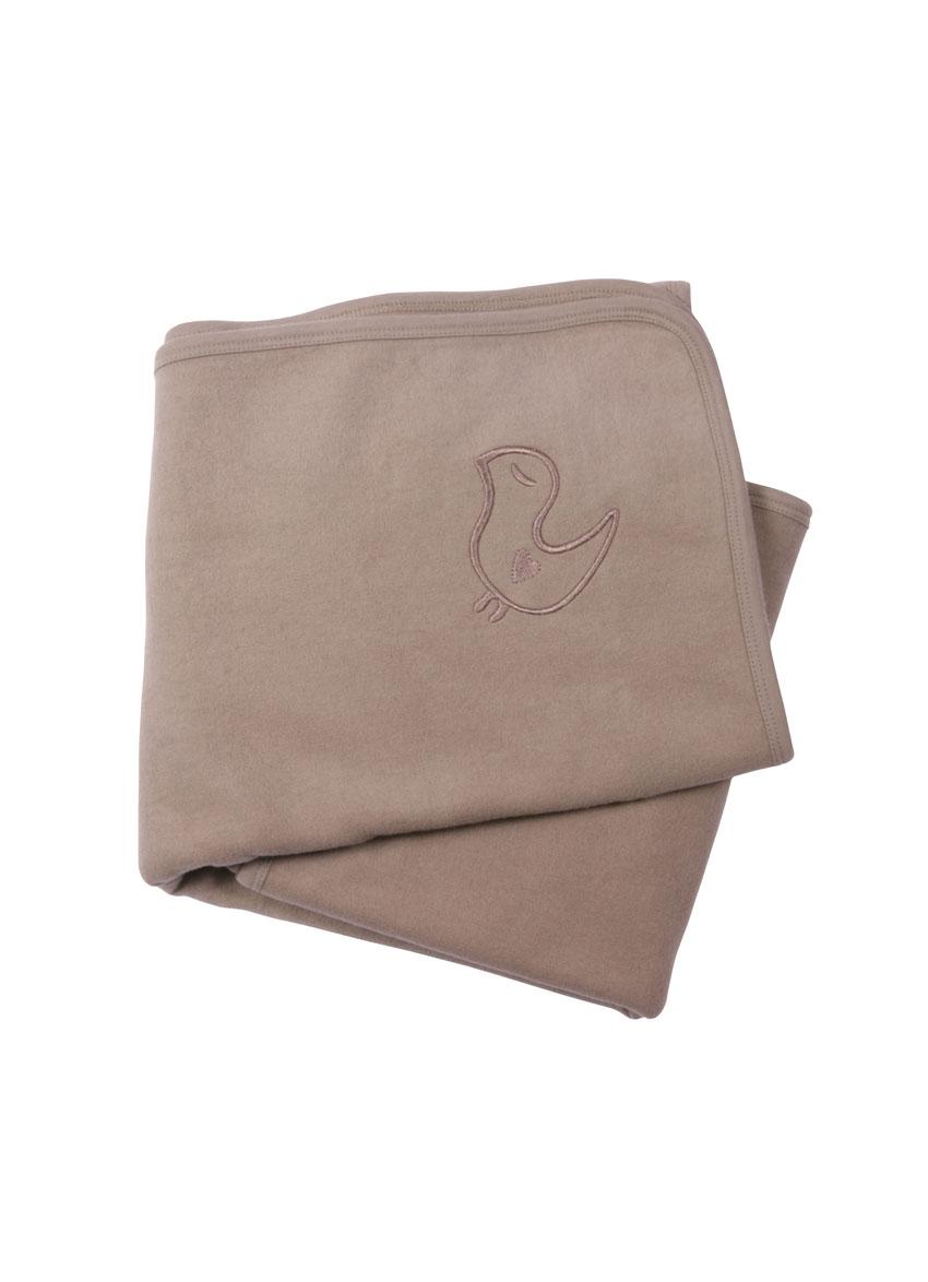 Baby fleece tæppe i økologisk børstet bomuld