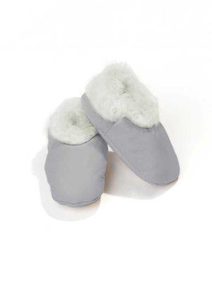 Baby booties lambskin – Grey