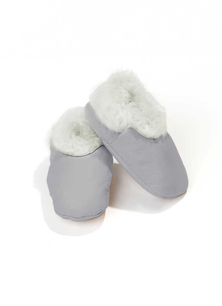 Baby sko Lammeskinn – Grå