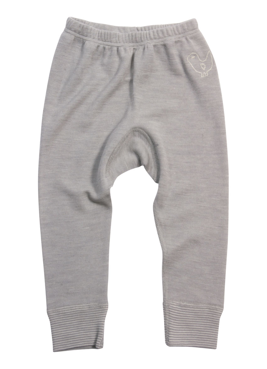 Bukser i ubehandlet uld & Silke – Grey