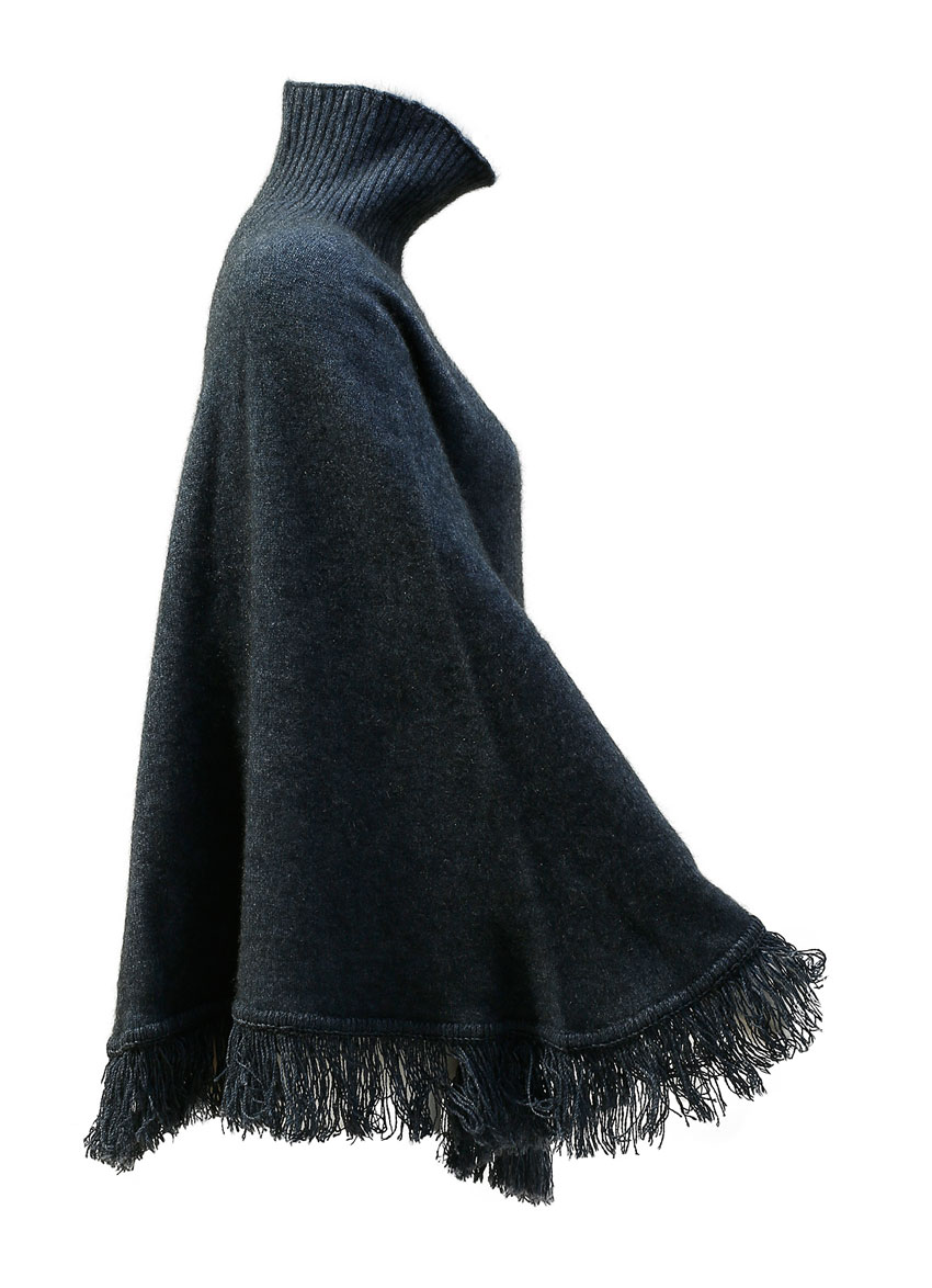 Poncho i Merino Possum – Bluewash