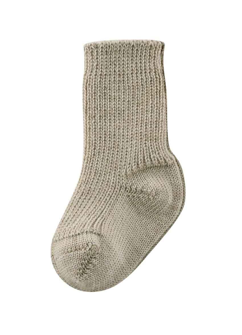 Sokker til baby i ren ubehandlet uld